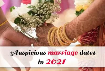 Most Popular Auspicious Marriage Dates In 2021