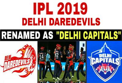 Indian Premier League 2019 Delhi Daredevils is now Delhi Capitals