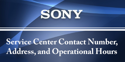 Sony Mobile Service Center Contact Number Address and
